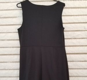 Banana Republic Dresses - Banana Republic black dress with shoulder ruffle 6